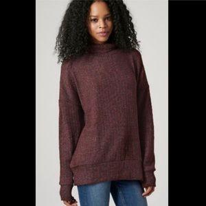 TOPSHOP Oversized Knit Turtleneck Sweater - Size 4